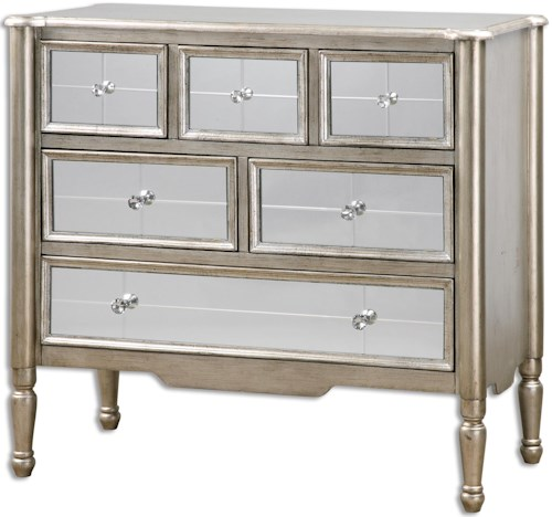 Uttermost Accent Furniture Rayvon Mirrored Accent Chest