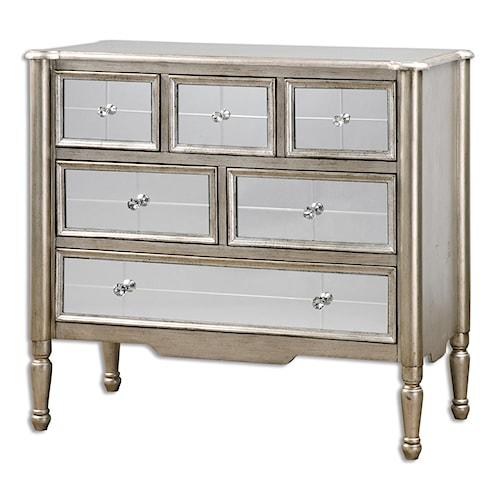 Uttermost Accent Furniture Rayvon Mirrored Accent Chest