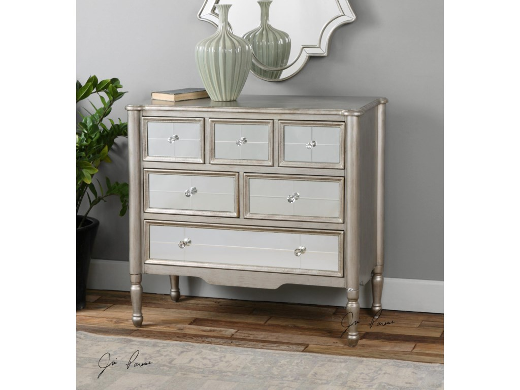Uttermost Accent Furniture - ChestsRayvon Mirrored Accent Chest