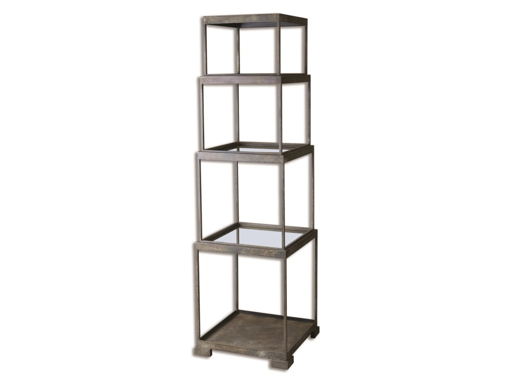 Uttermost Accent Furniture - BookcasesFriedman Metal Etagere