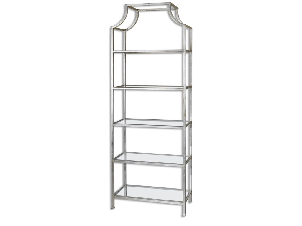 Uttermost Accent Furniture - BookcasesAurelie Silver Etagere