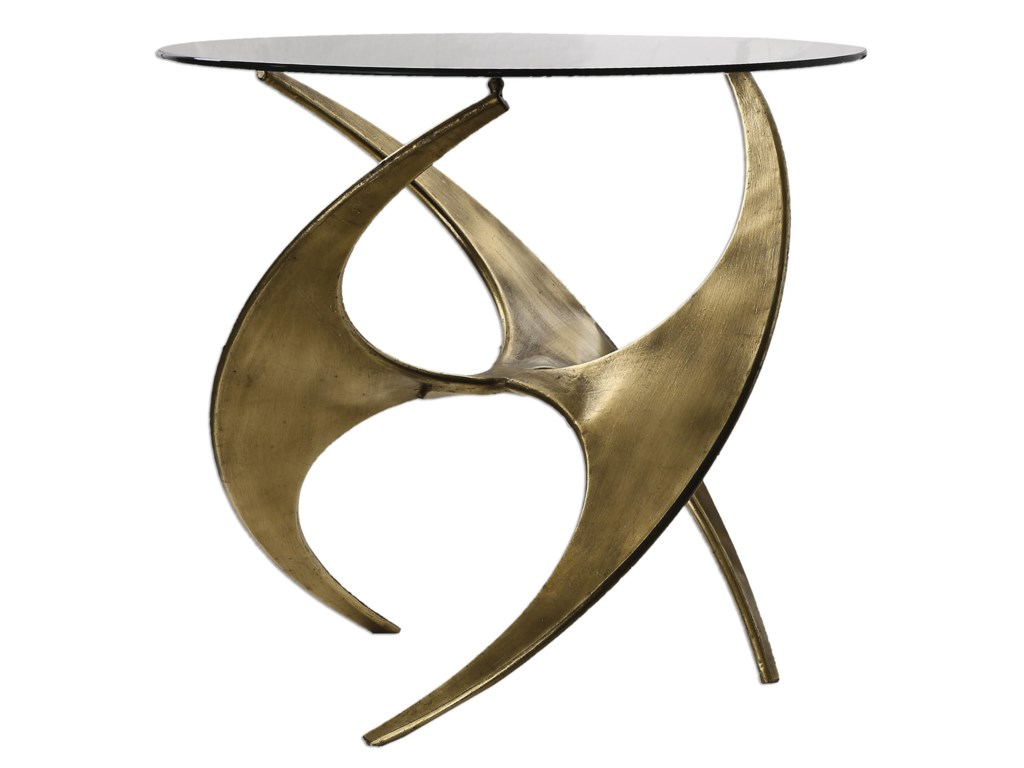 Uttermost Accent Furniture - Occasional TablesGraciano Glass Accent Table