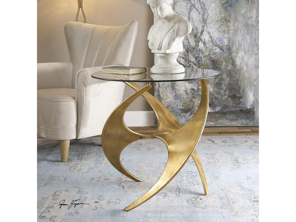 Uttermost Accent FurnitureGraciano Glass Accent Table