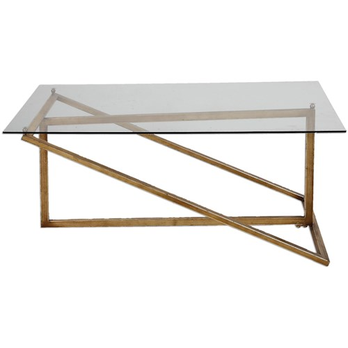 Uttermost Accent Furniture Zerrin Glass Coffee Table