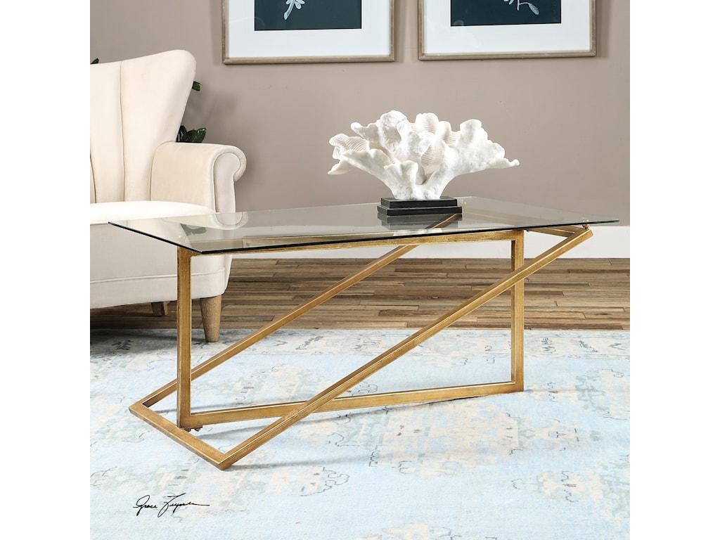 Uttermost Accent FurnitureZerrin Glass Coffee Table