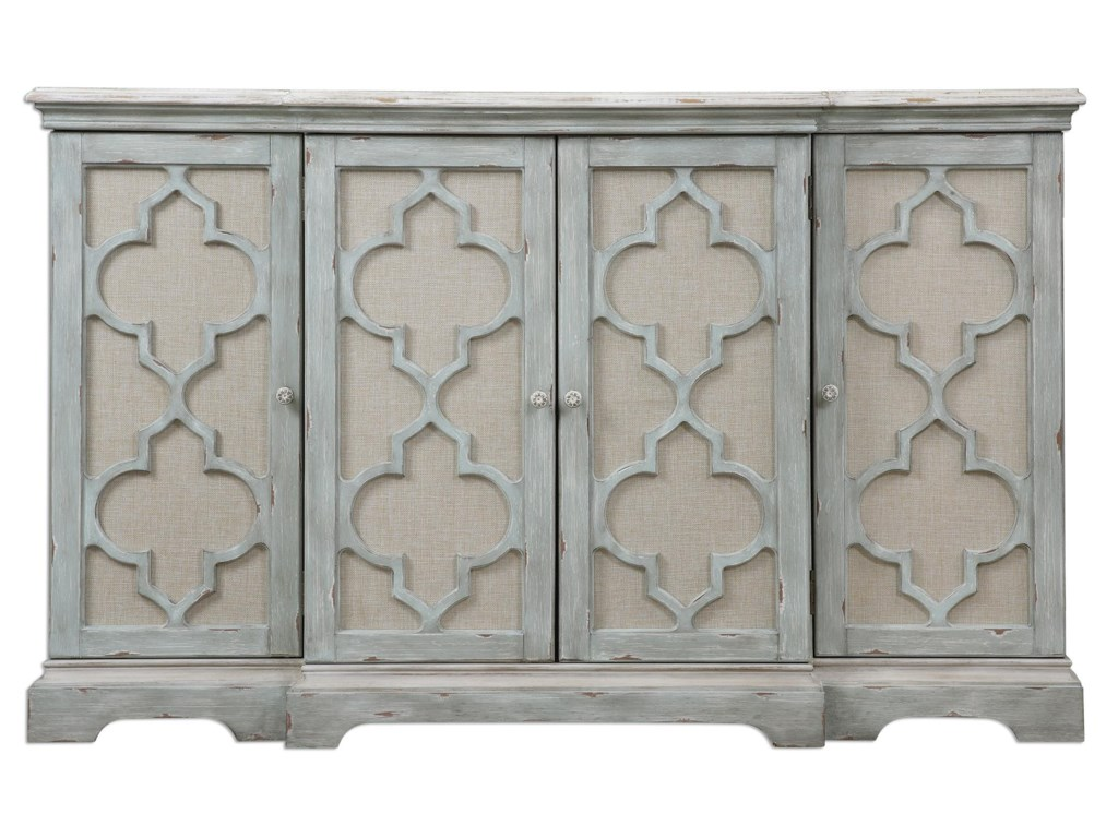 Uttermost Accent Furniture - ChestsSophie 4 Door Grey Cabinet