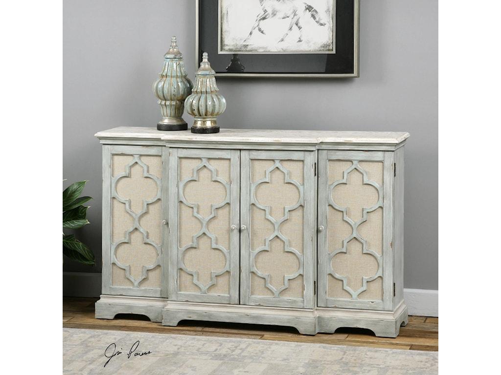 Uttermost Accent Furniture - ChestsSophie 4 Door Grey Cabinet