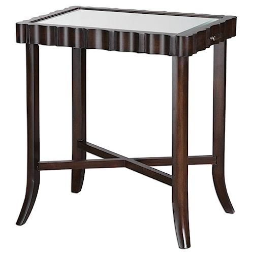 Uttermost Accent Furniture Karisa Dark Walnut Accent Table