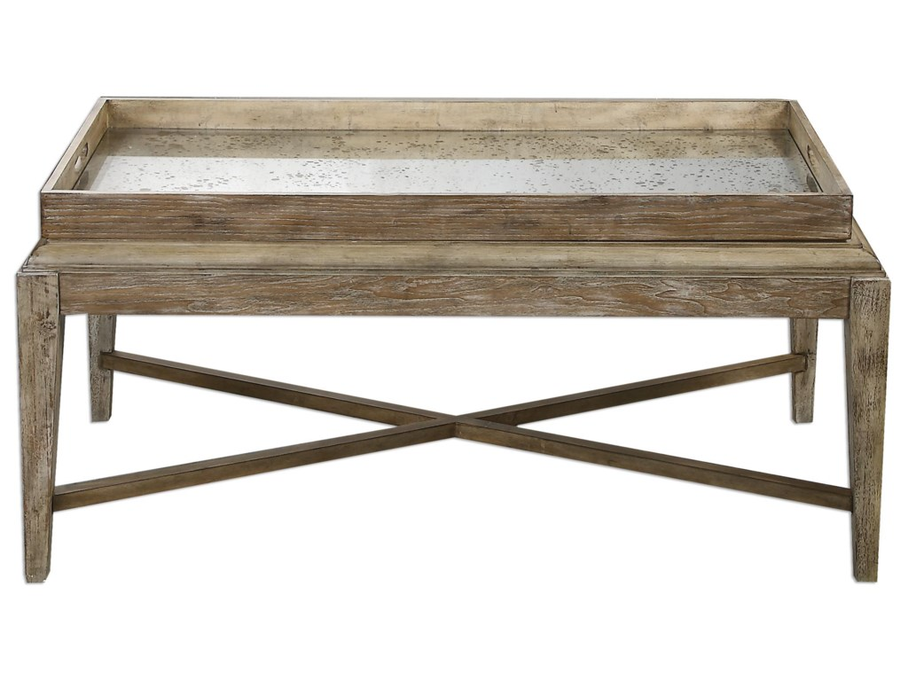 Uttermost Accent Furniture Marek Wooden Coffee Table Dunk - Uttermost driftwood coffee table