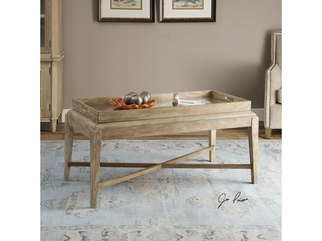 Uttermost Accent Furniture - Occasional TablesMarek Wooden Coffee Table