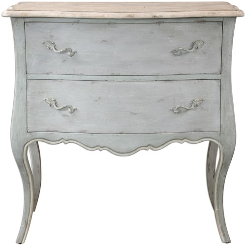 Uttermost Accent Furniture Ferrand Gray Accent Chest