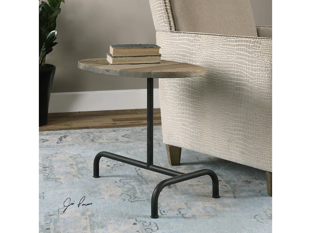 Uttermost Accent Furniture - Occasional TablesMartez Industrial Accent Table
