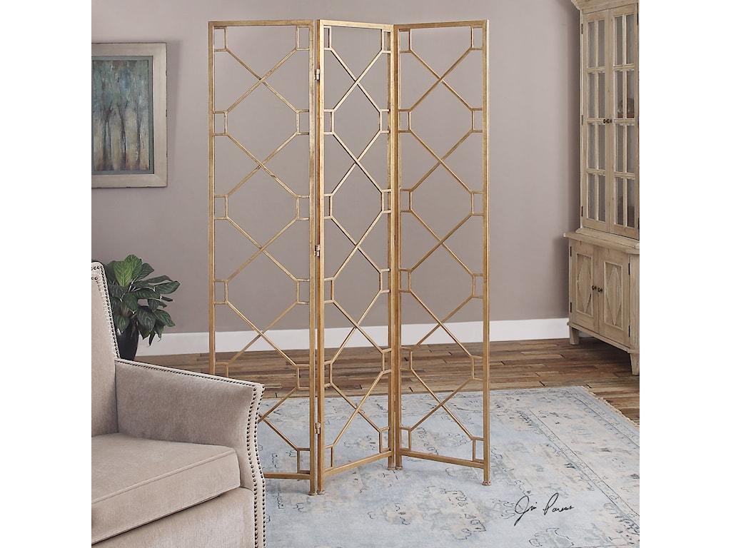 Uttermost Accent FurnitureLakaya Gold 3 Panel Screen