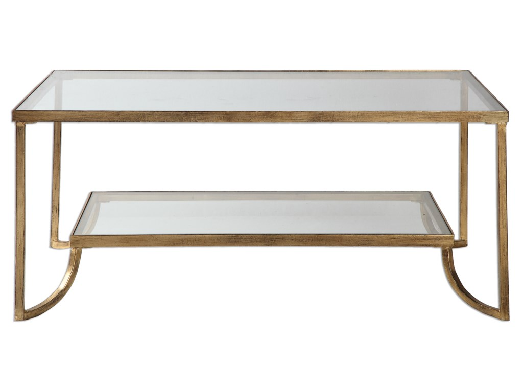 Accent Furniture Katina Gold Leaf Coffee Table Becker Furniture - Uttermost driftwood coffee table