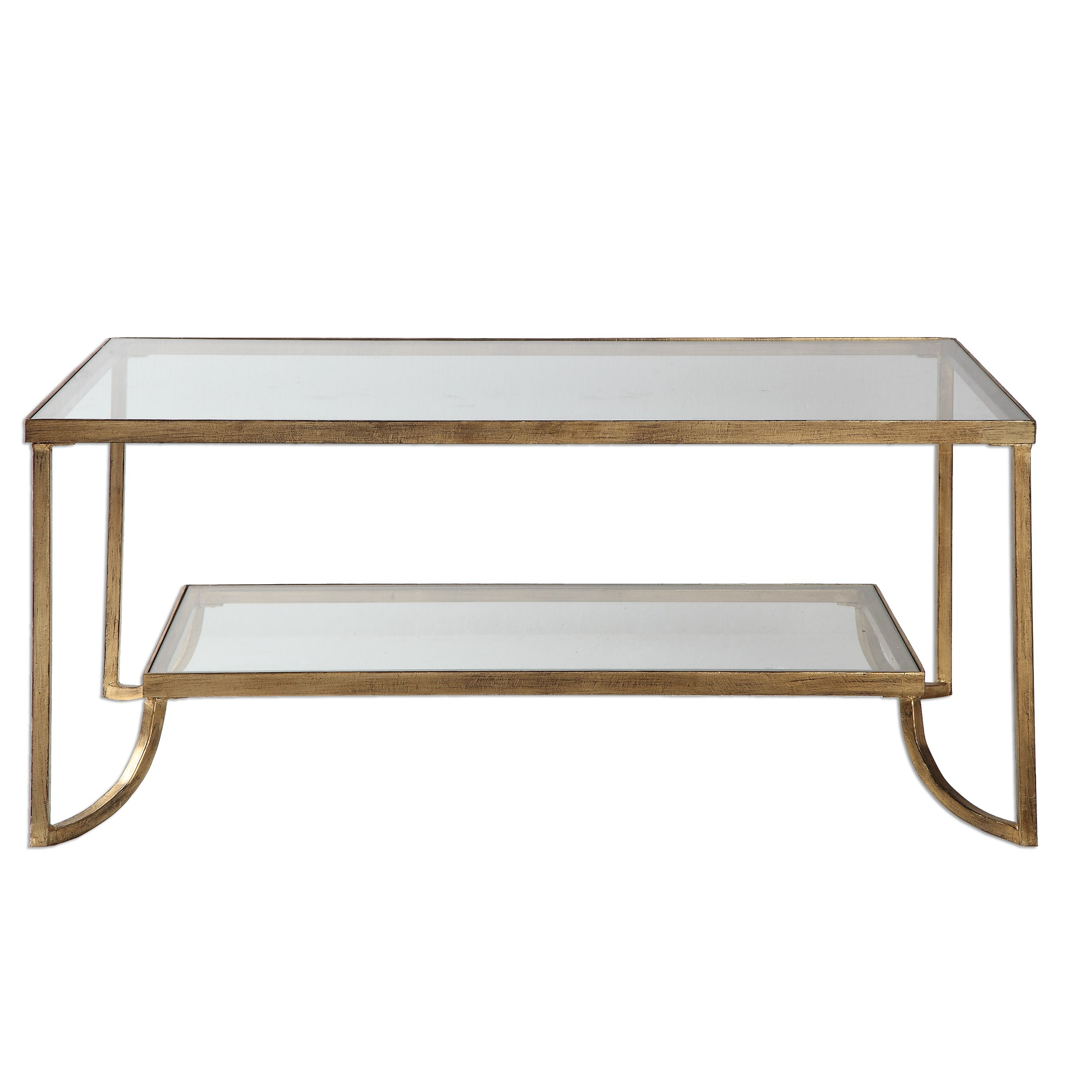 Beautiful Uttermost Accent FurnitureKatina Gold Leaf Coffee Table ...