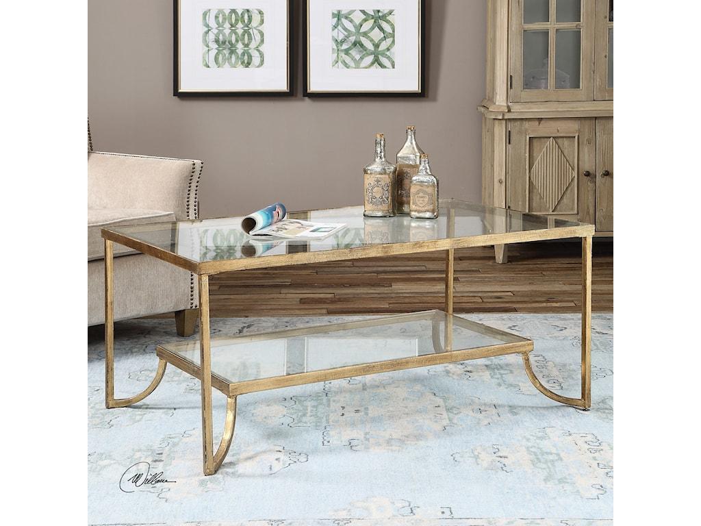 Uttermost accent furniture katina gold leaf coffee table uttermost accent furniture katina gold leaf coffee table geotapseo Choice Image