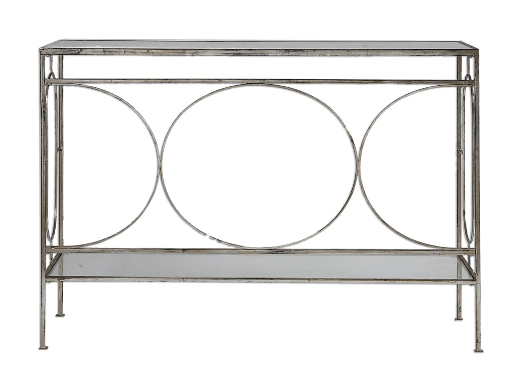 Uttermost Accent Furniture - Occasional TablesLuano Silver Console Table