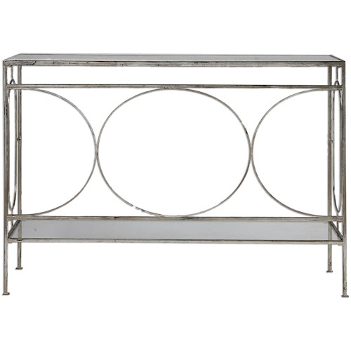 Uttermost Accent Furniture Luano Silver Console Table