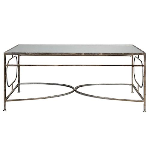 Uttermost Accent Furniture Luano Silver Coffee Table