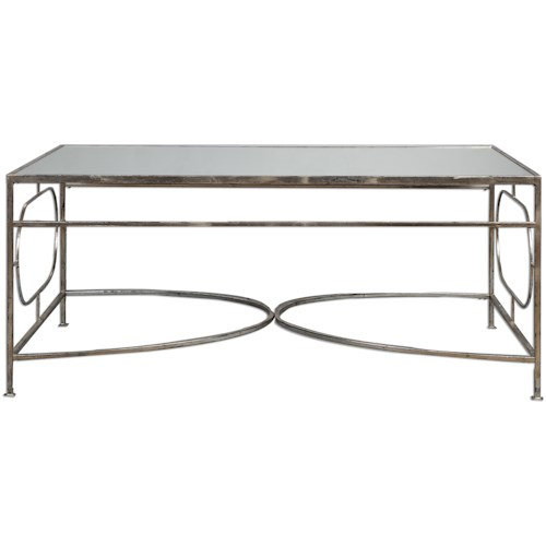 Uttermost Accent Furniture Luano Silver Coffee Table
