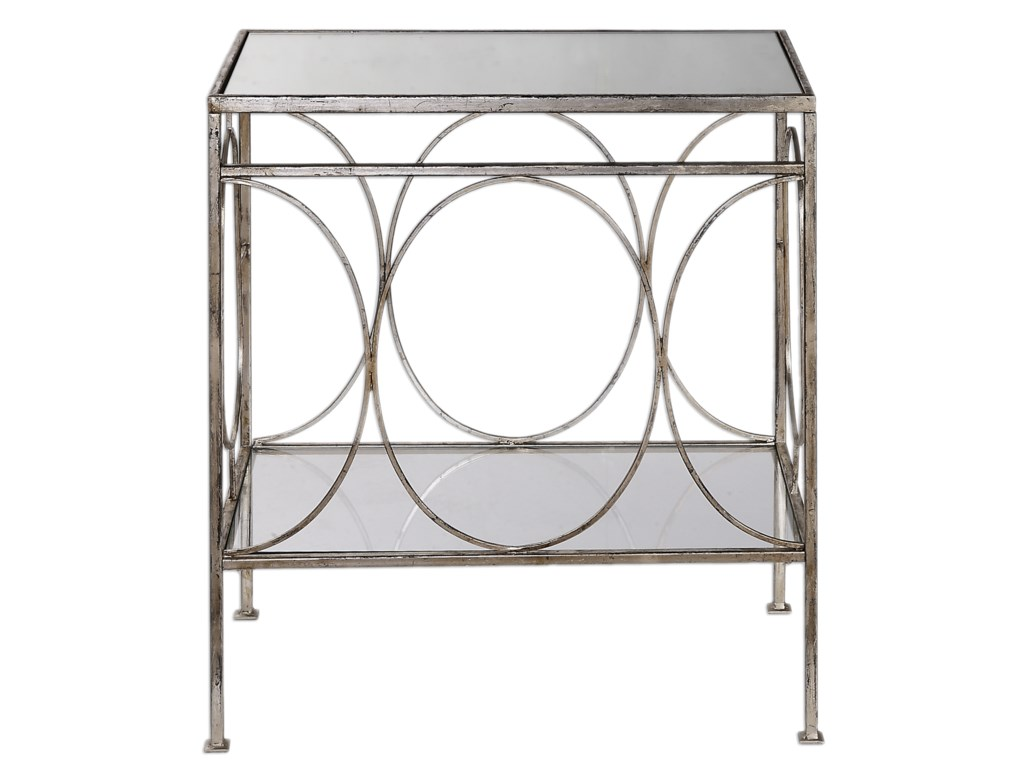 Uttermost Accent FurnitureLuano Silver End Table