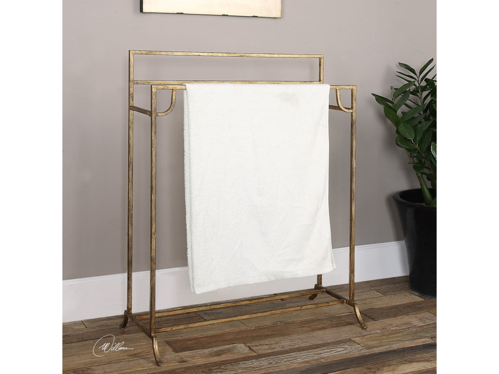 Uttermost Accent FurniturePerico Gold Towel Stand