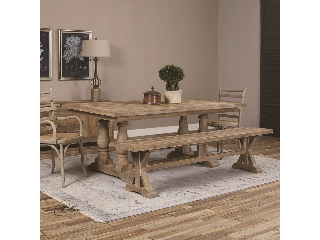 Uttermost Accent Furniture - BenchesStratford Salvaged Wood Bench