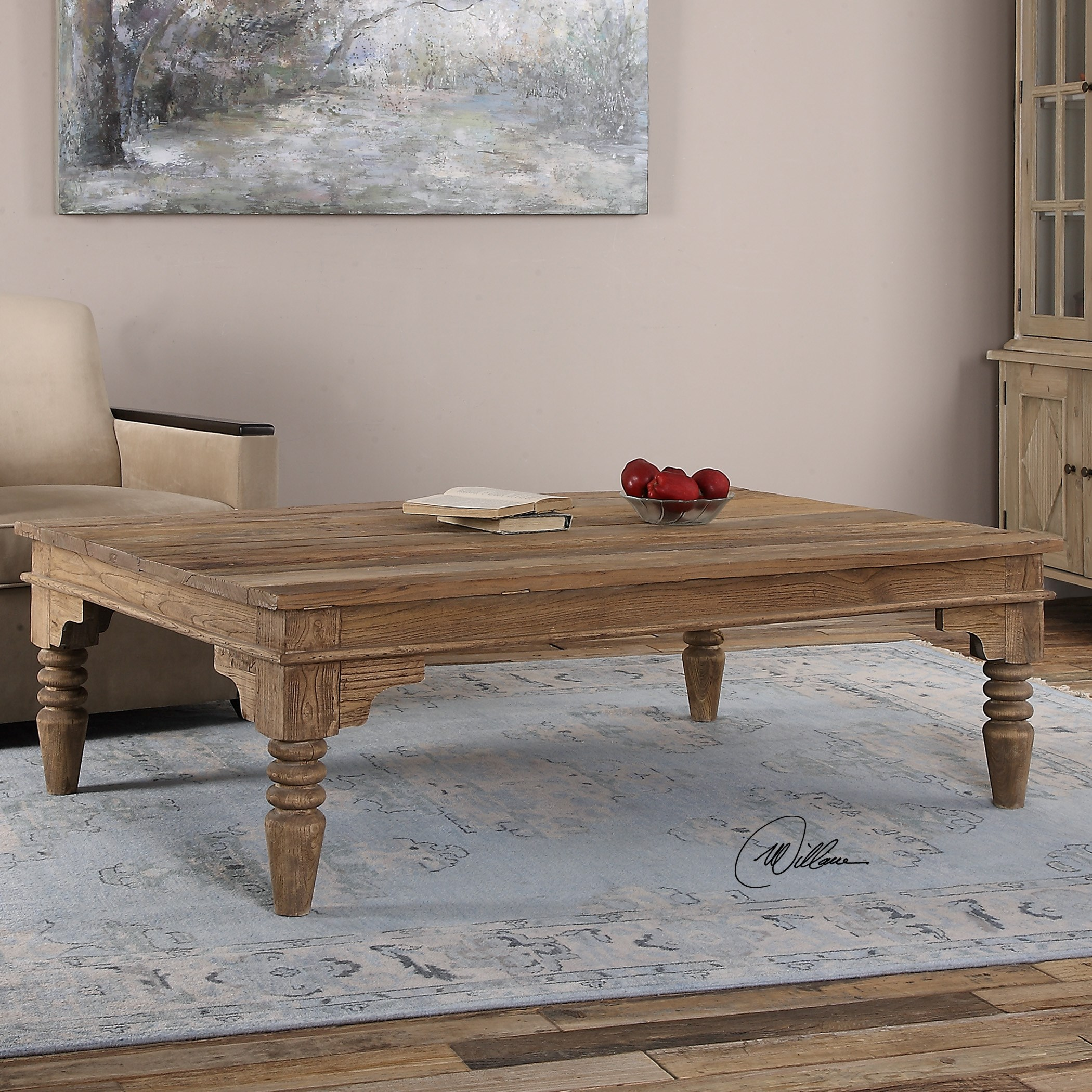 Accent Furniture Khristian Reclaimed Wood Coffee Table By Uttermost