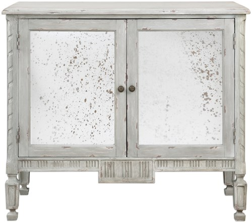 Uttermost Accent Furniture Okorie Gray Console Cabinet