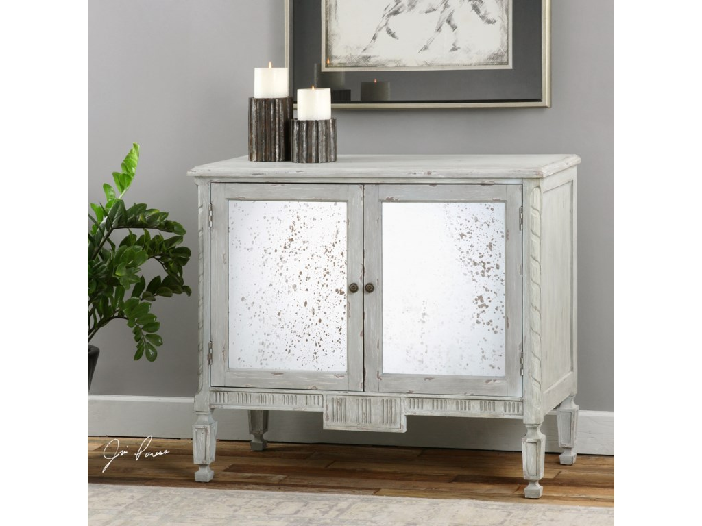 Uttermost Accent FurnitureOkorie Gray Console Cabinet