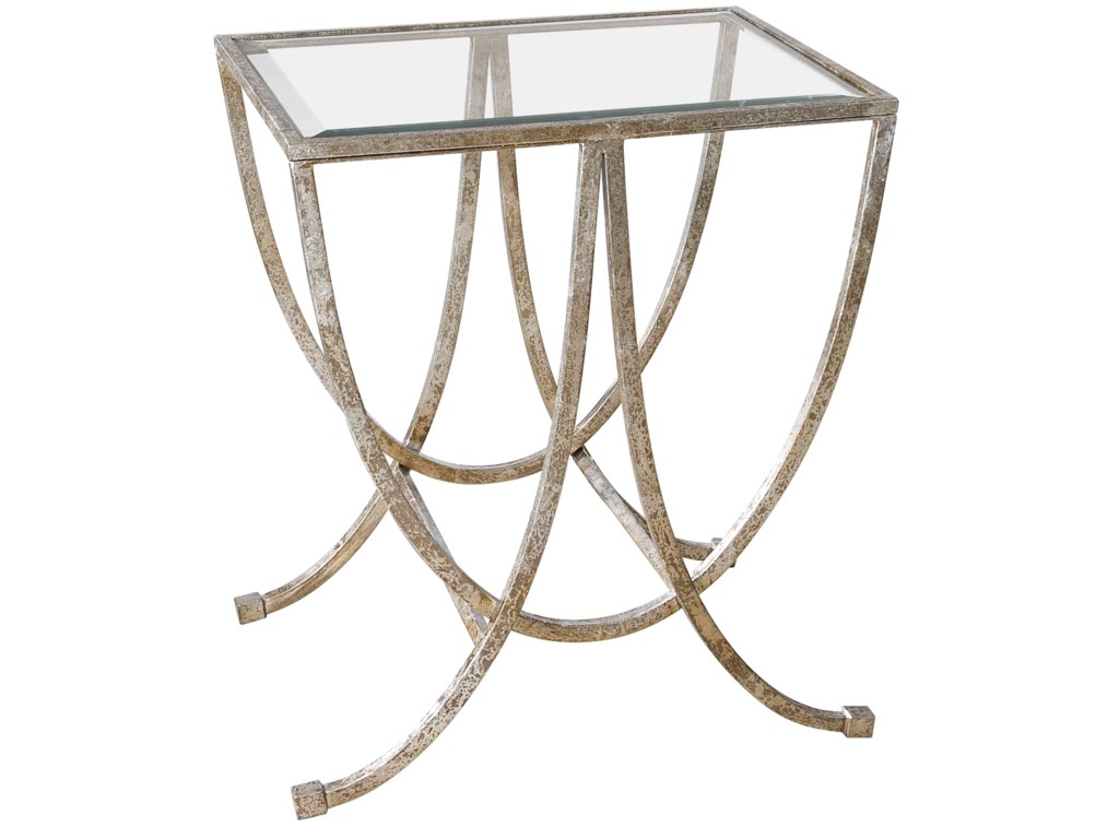 Uttermost Accent Furniture - Occasional TablesMarta Antiqued Silver Side Table