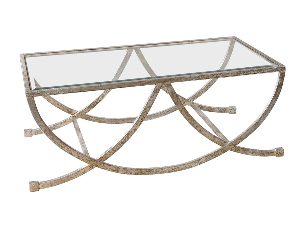 Uttermost Accent FurnitureMarta Antiqued Silver Coffee Table