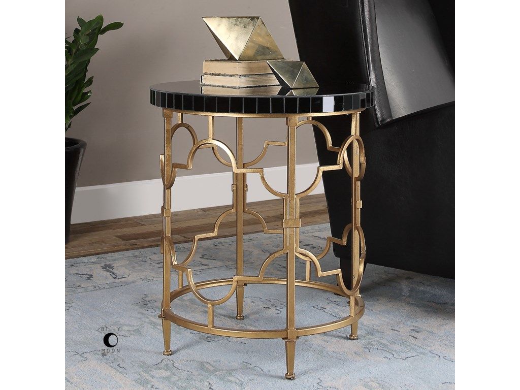 Uttermost Accent FurnitureMosi Gold Black Accent Table