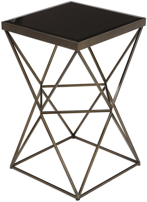 Uttermost Accent Furniture Uberto Caged Frame Accent Table