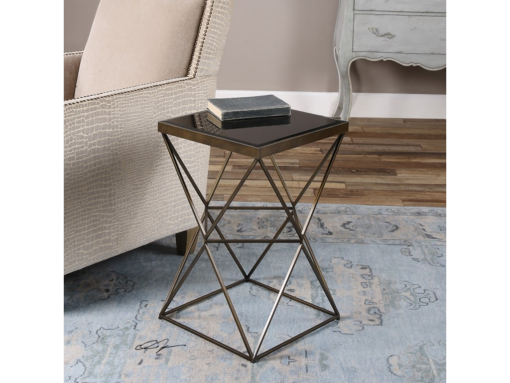 Uttermost Accent Furniture - Occasional TablesUberto Caged Frame Accent Table