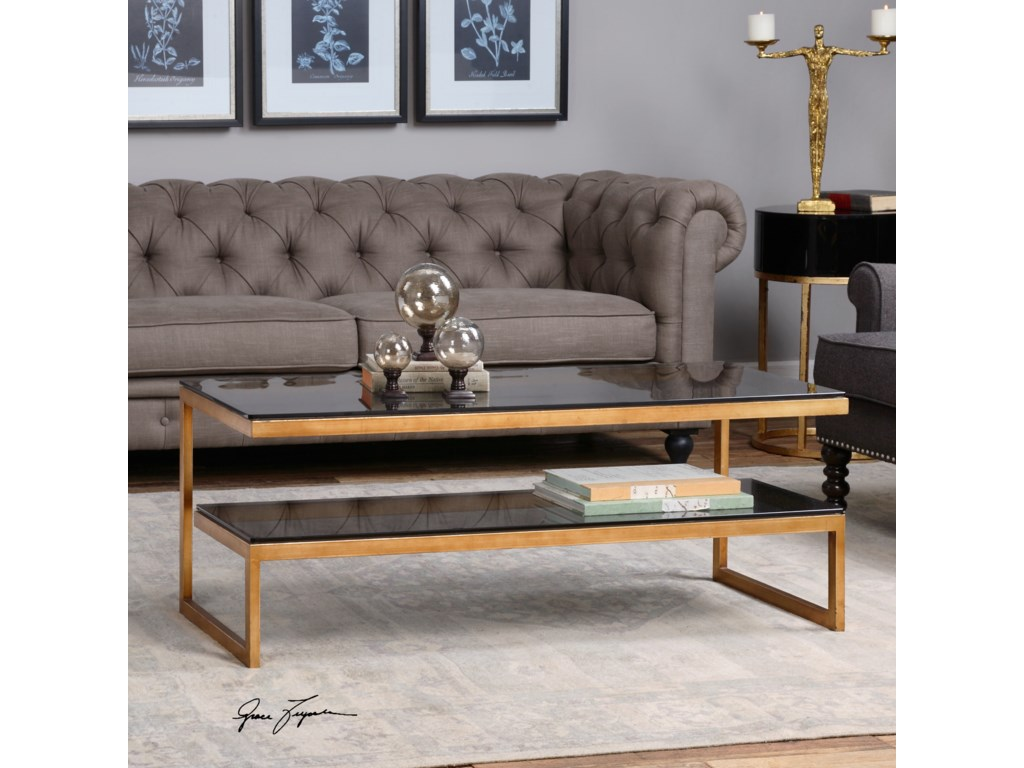 Uttermost Accent Furniture - Occasional TablesAdeen Glass Coffee Table