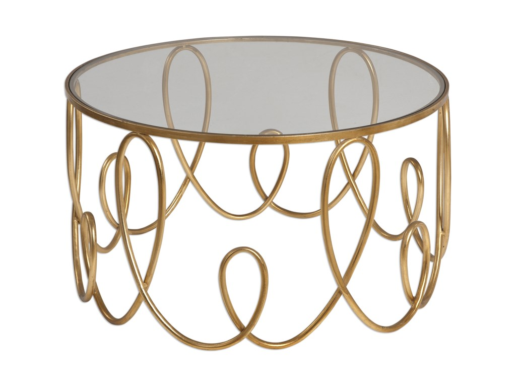 Uttermost Accent Furniture - Occasional TablesBrielle Gold Coffee Table