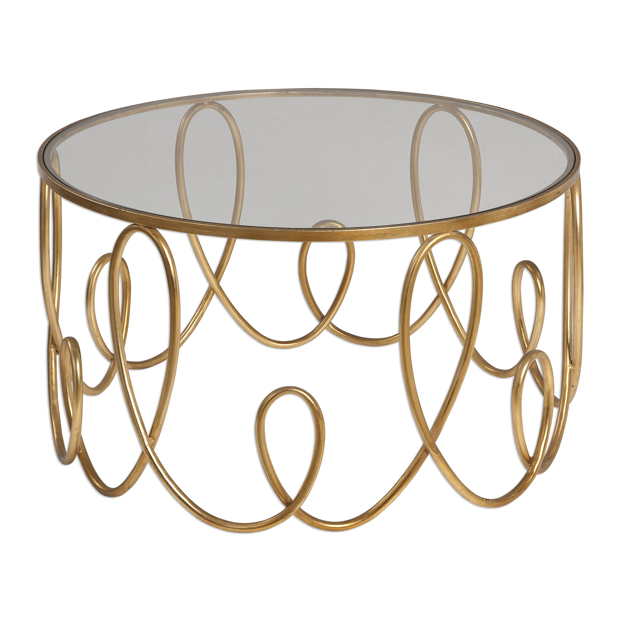 uttermost accent furniture brielle gold coffee table becker furniture world tables