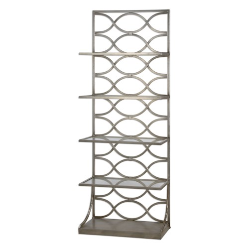 Uttermost Accent Furniture Lashaya Silver Etagere
