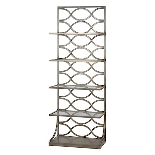 Uttermost Accent Furniture Lashaya Silver Etagere