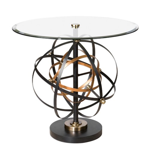 Uttermost Accent Furniture Colman Sphere Accent Table