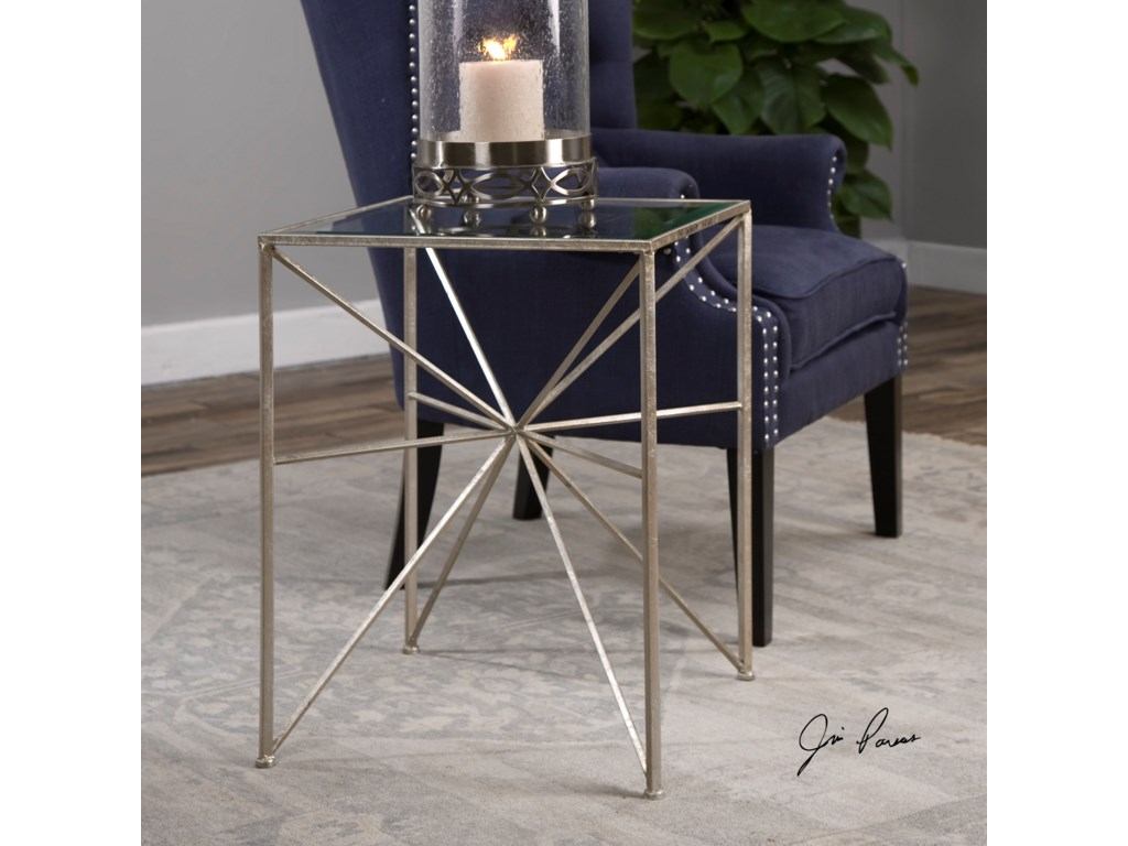 Uttermost Accent Furniture - Occasional TablesSilvana Silver Side Table