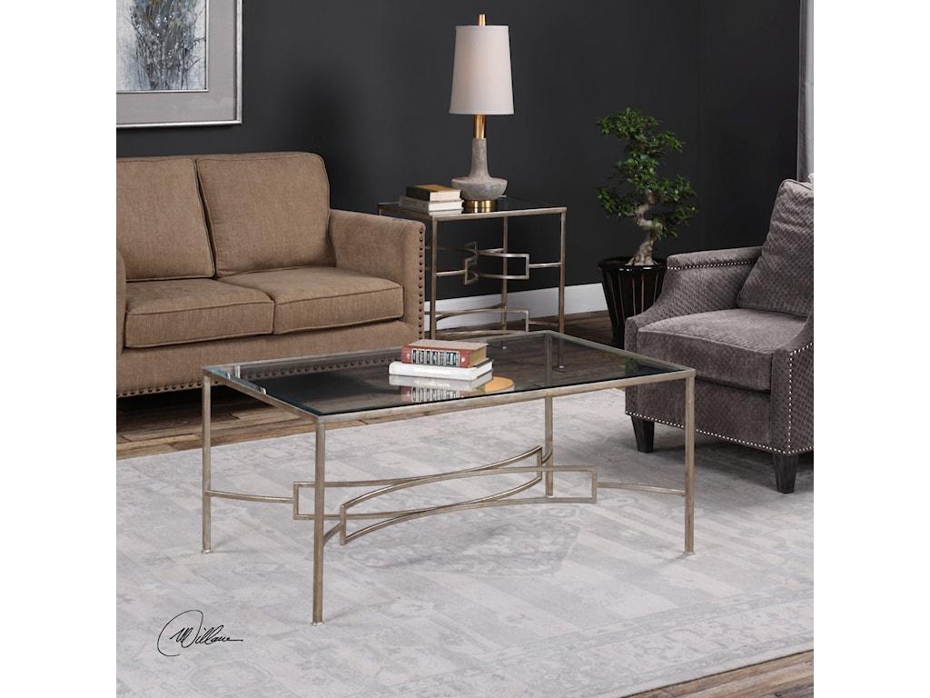 Uttermost Accent FurnitureEilinora Silver Coffee Table