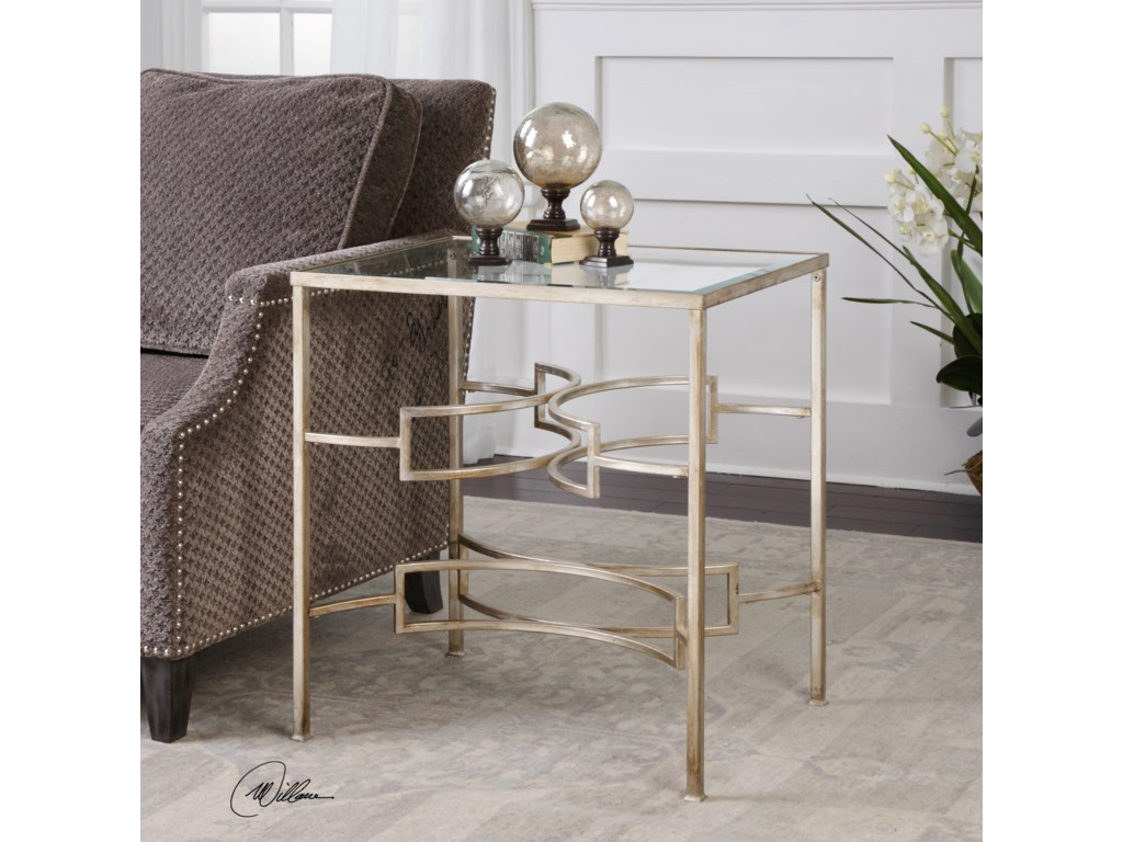 Uttermost Accent Furniture - Occasional TablesEilinora Silver End Table