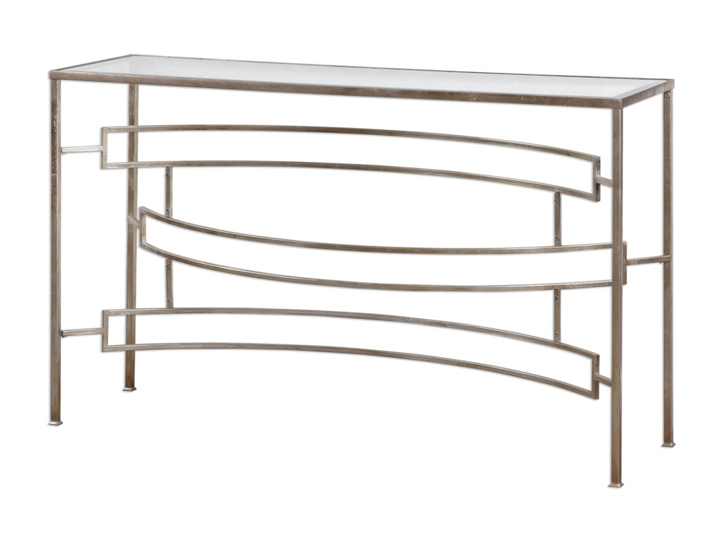 Uttermost Accent FurnitureEilinora Silver Console Table
