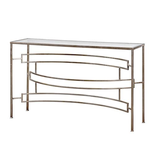 Uttermost Accent Furniture Eilinora Silver Console Table