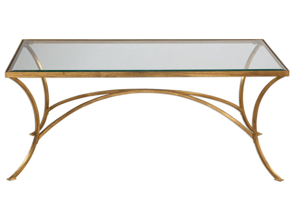 Uttermost Accent Furniture Alayna Gold Coffee Table Hudsons - Uttermost driftwood cocktail table