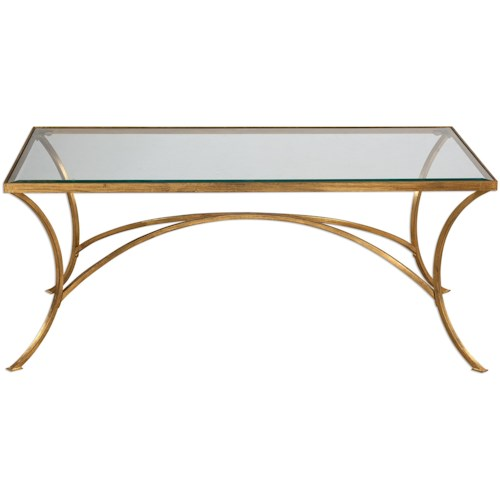 Uttermost Accent Furniture Alayna Gold Coffee Table