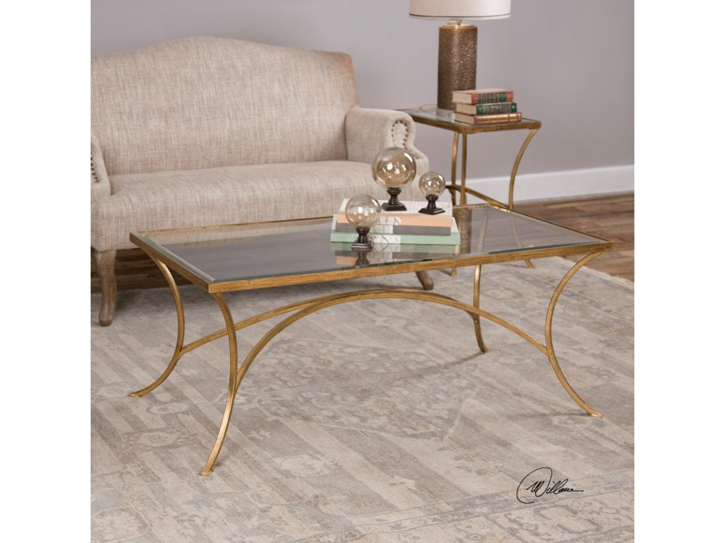 Uttermost Accent Furniture - Occasional TablesAlayna Gold Coffee Table