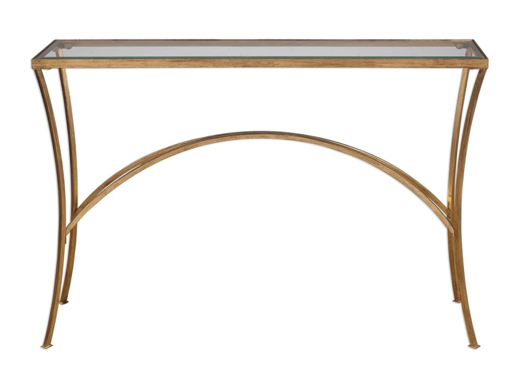 Uttermost Accent FurnitureAlayna Gold Console Table